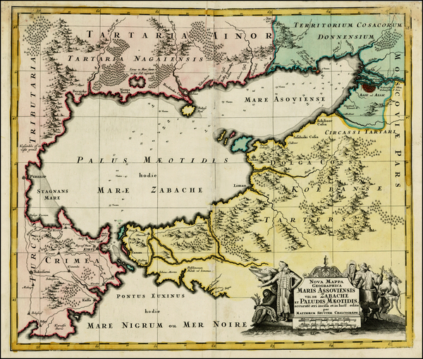 12-Russia and Ukraine Map By Matthaus Seutter