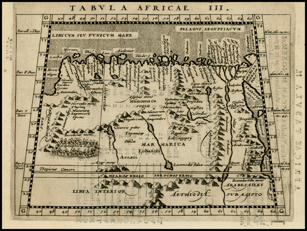 85-Egypt and North Africa Map By Giovanni Antonio Magini