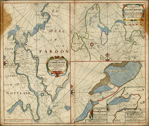 37-Baltic Countries and Scandinavia Map By Nils Stromcrona