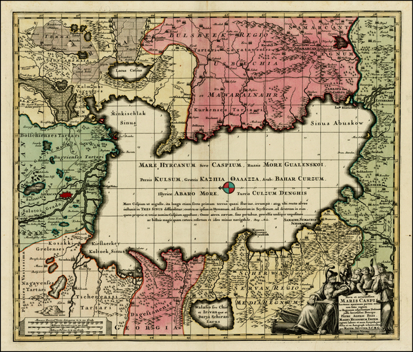 80-Ukraine, Central Asia & Caucasus and Russia in Asia Map By Matthaus Seutter