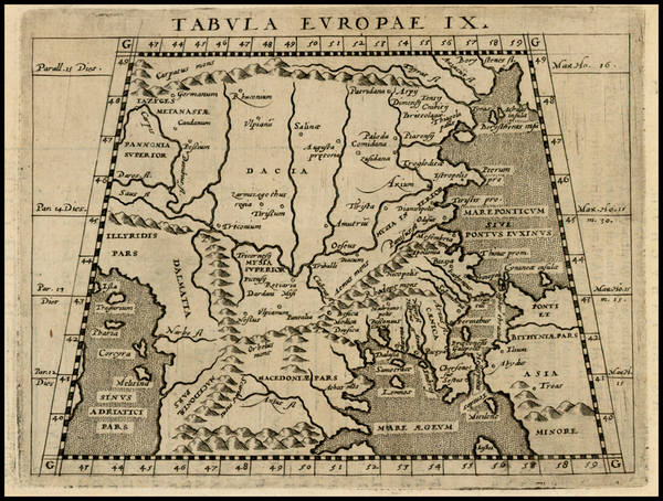 Greece and Turkey Map By Giovanni Antonio Magini
