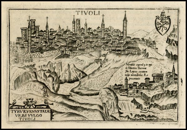 80-Italy and Other Italian Cities Map By Pietro Bertelli