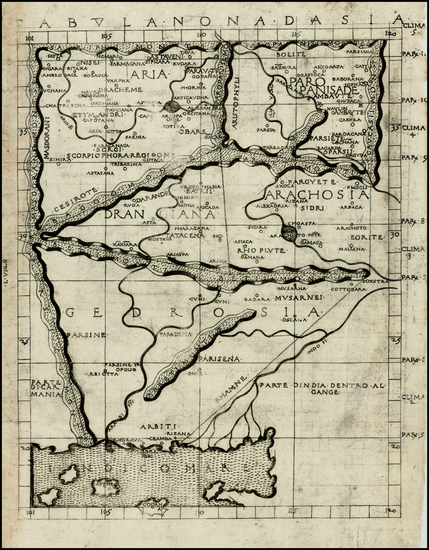 55-India and Central Asia & Caucasus Map By Francesco Berlinghieri