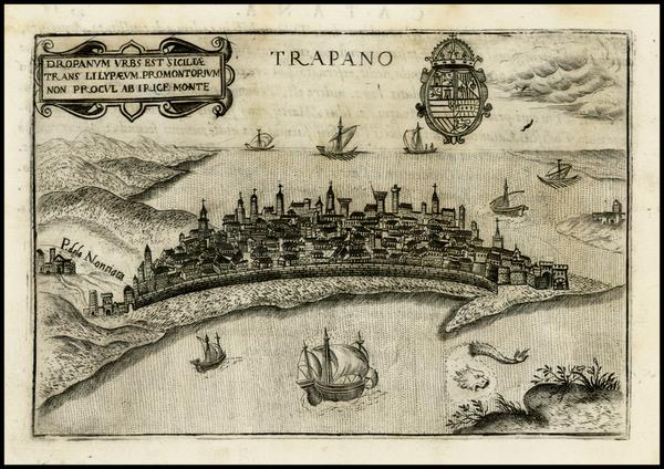 54-Italy Map By Pietro Bertelli