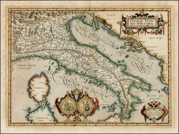 47-Italy Map By Abraham Ortelius