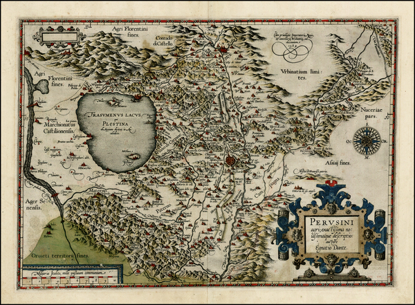 86-Italy Map By Abraham Ortelius