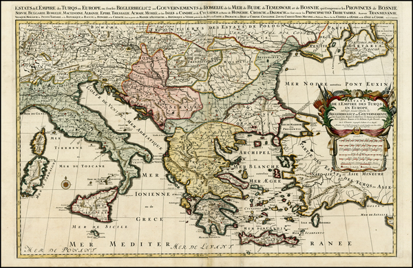 12-Ukraine, Romania, Balkans, Italy, Greece, Turkey and Balearic Islands Map By Alexis-Hubert Jail