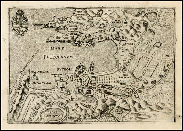 87-Italy Map By Pietro Bertelli