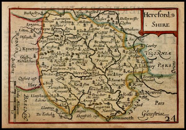 38-British Isles and British Counties Map By John Speed