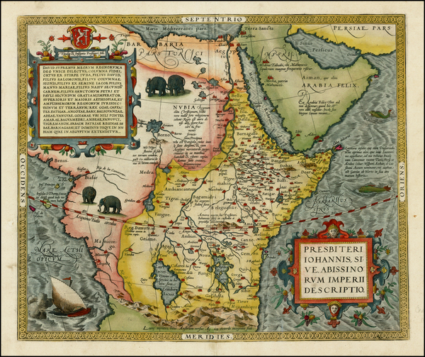5-Africa, North Africa, East Africa and West Africa Map By Abraham Ortelius
