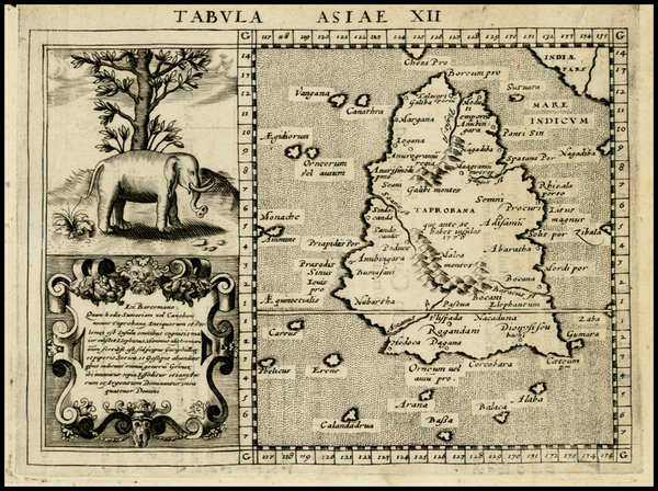 28-India and Other Islands Map By Giovanni Antonio Magini