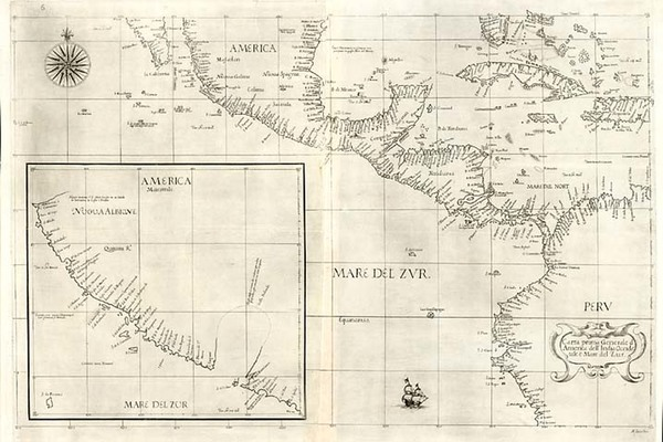 65-Southeast, Caribbean, Central America and California Map By Robert Dudley