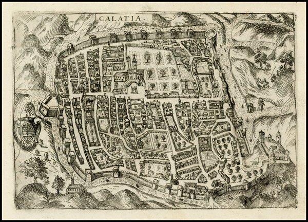 48-Italy, Southern Italy and Other Italian Cities Map By Pietro Bertelli