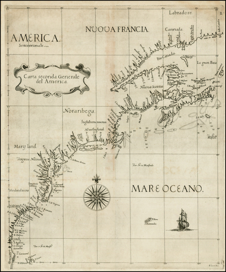 28-New England, Mid-Atlantic, Southeast and Canada Map By Robert Dudley