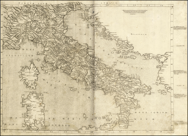 54-Italy Map By Bernardus Venetus de Vitalibus