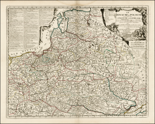 33-Poland, Ukraine and Baltic Countries Map By Jean-Baptiste Nolin