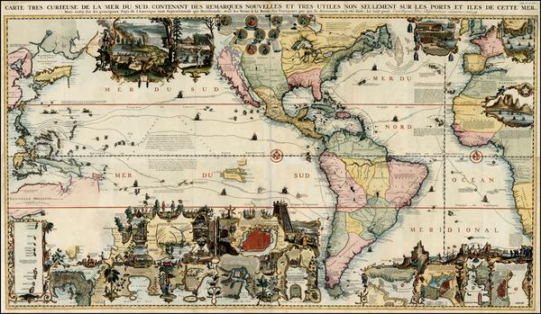 1-World, World, Atlantic Ocean, North America, South America, Pacific, California and America Map