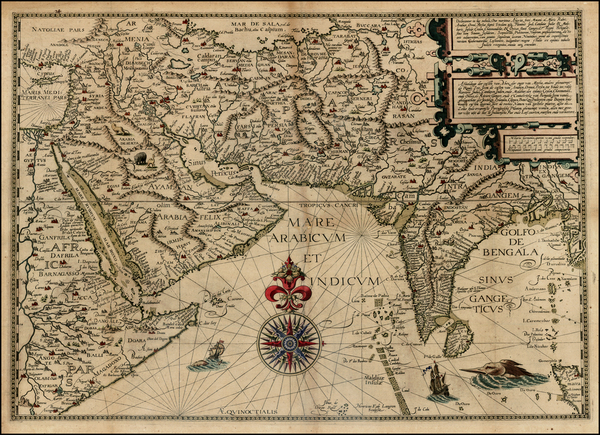 36-Indian Ocean, India, Central Asia & Caucasus and Middle East Map By Jan Huygen Van Linschot