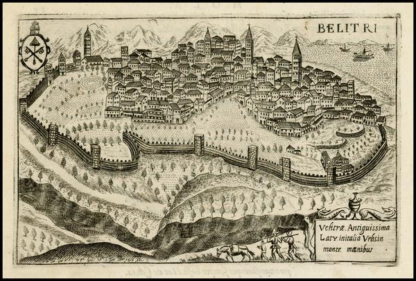 64-Italy Map By Pietro Bertelli