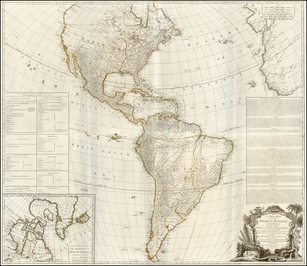 26-North America, South America and America Map By Robert Sayer  &  Richard Bennett
