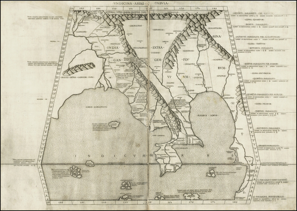 75-India and Southeast Asia Map By Claudius Ptolemy