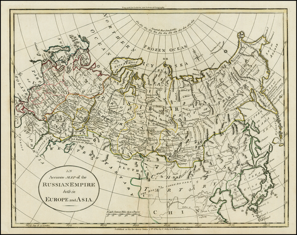 54-Russia, Ukraine, Central Asia & Caucasus and Russia in Asia Map By G. Robinson  &  Char