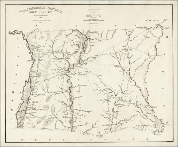 62-Southeast and South Carolina Map By Robert Mills