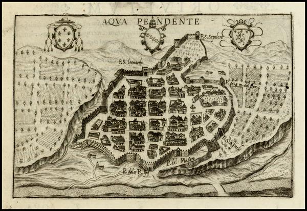 36-Italy Map By Pietro Bertelli