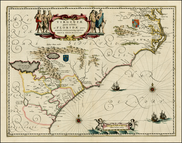 100-Southeast Map By Willem Janszoon Blaeu