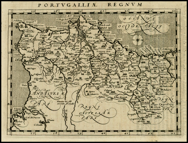 Portugal Map By Giovanni Antonio Magini