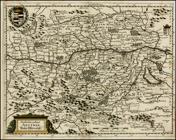 5-Austria and Italy Map By Matthaus Merian