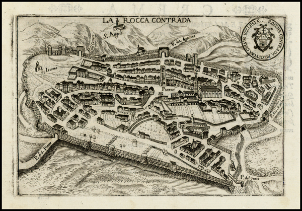 70-Italy and Other Italian Cities Map By Pietro Bertelli