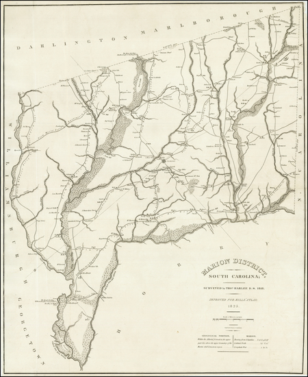 51-Southeast and South Carolina Map By Robert Mills