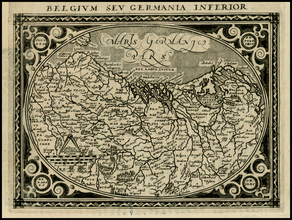 51-Netherlands and Germany Map By Giovanni Antonio Magini