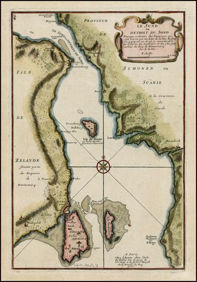 4-Baltic Countries and Scandinavia Map By Nicolas de Fer
