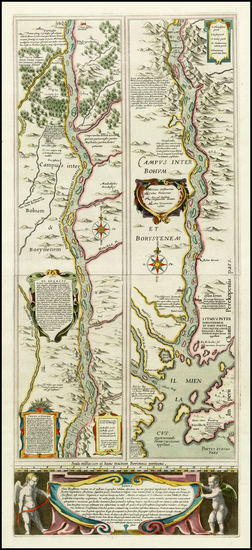 34-Russia and Ukraine Map By Willem Janszoon Blaeu