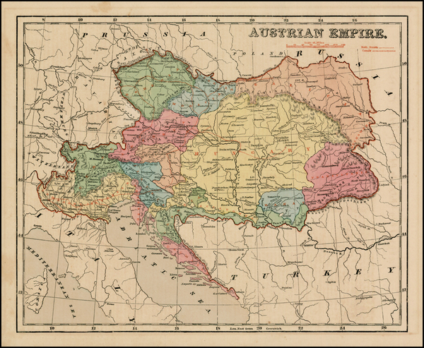 100-Austria, Hungary, Romania, Czech Republic & Slovakia and Balkans Map By Sidney Morse