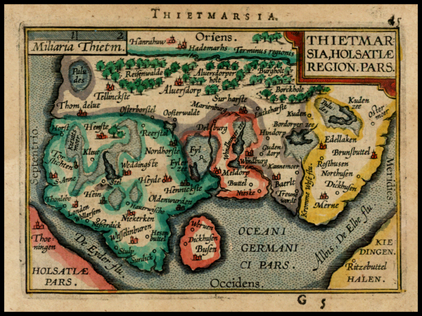 40-Scandinavia Map By Abraham Ortelius / Johannes Baptista Vrients