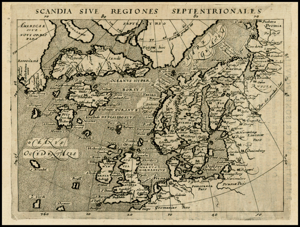 49-Polar Maps, Atlantic Ocean, Canada, Europe, Scandinavia, Iceland and Balearic Islands Map By Gi