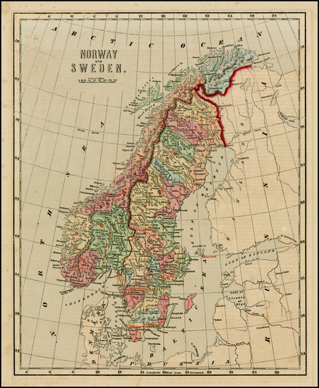 86-Scandinavia Map By Sidney Morse