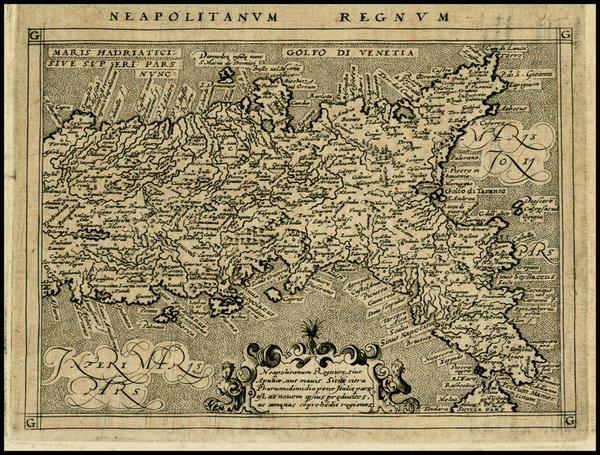 80-Italy Map By Giovanni Antonio Magini