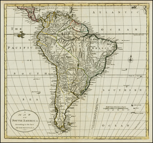 95-South America Map By William Guthrie