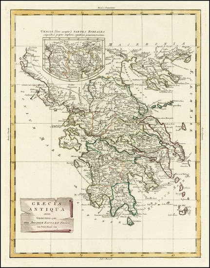 64-Greece and Turkey Map By Antonio Zatta