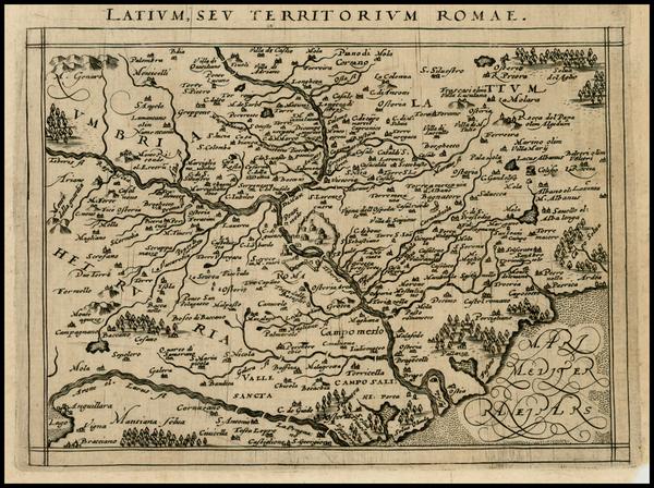 70-Italy Map By Giovanni Antonio Magini