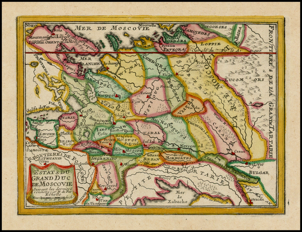 87-Poland, Russia and Ukraine Map By Nicolas de Fer
