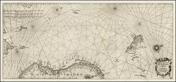 57-Scandinavia Map By Willem Janszoon Blaeu
