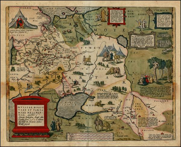 94-Russia, Ukraine, India, Central Asia & Caucasus and Russia in Asia Map By Abraham Ortelius
