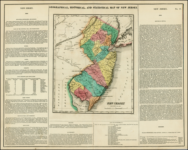 0-New Jersey Map By Henry Charles Carey  &  Isaac Lea