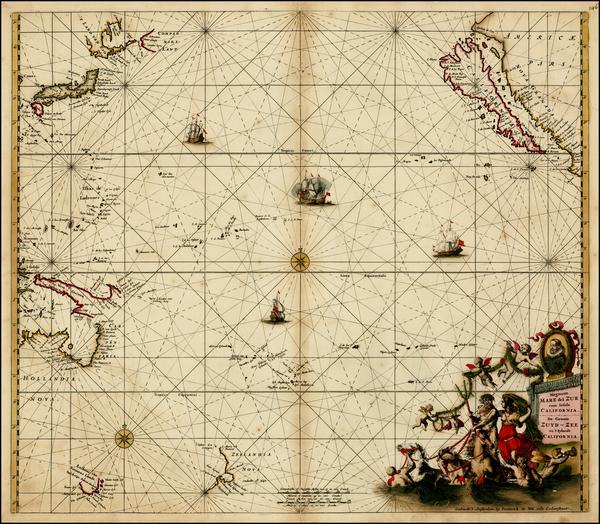 87-Australia & Oceania, Pacific, Australia, Oceania, New Zealand and California Map By Frederi