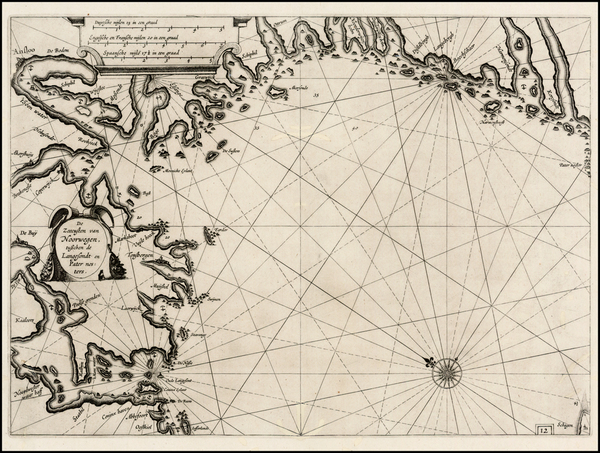 54-Scandinavia and Norway Map By Willem Janszoon Blaeu